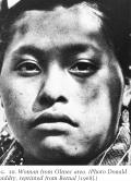 Rostro de una mujer en area Olmeca 1968