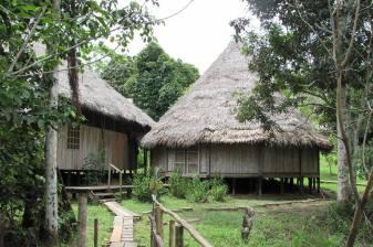 Maloka tradicional, aunque quedan ya pocas en las riveras de los ríos aun es una manera tradicional de construir .