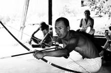 Obra de teatro mítica fundacional, organizada por NAtutama en donde se recrean los mundo terrestres y acuáticos a traves del Manati y la Danta