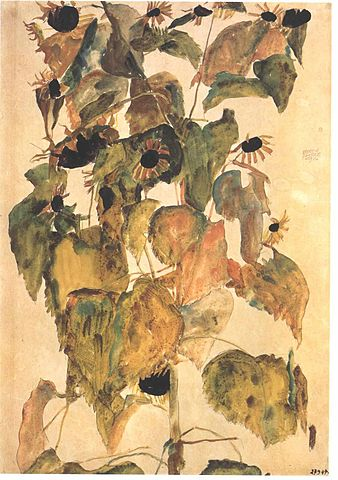 338px-Schiele_-_Sonnenblumen