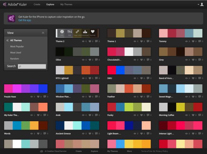 Adobe-Kuler-Explore