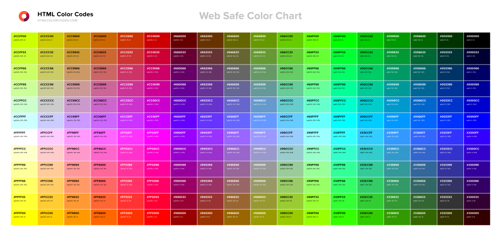 web-safe-color-chart