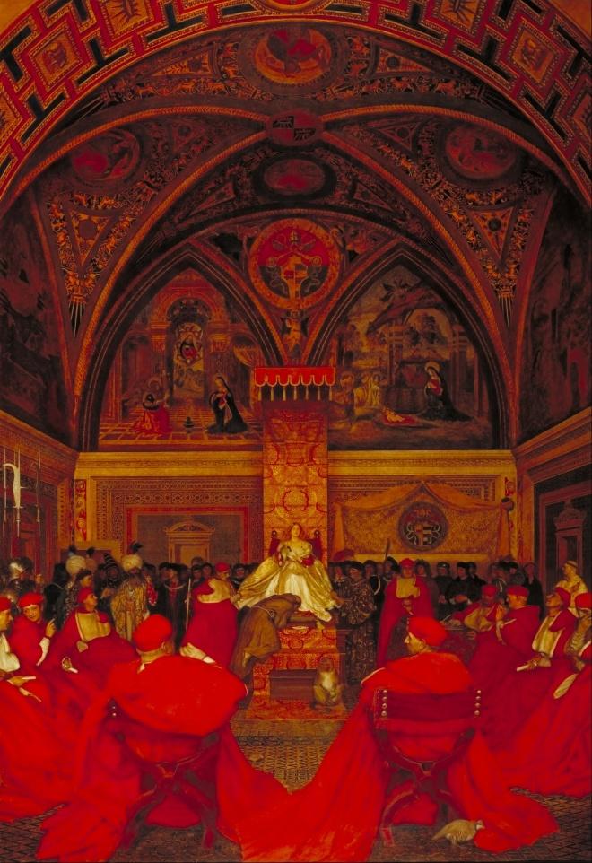 Frank_Cadogan_Cowper_-_Lucretia_Borgia_Reigns_in_the_Vatican_in_the_Absence_of_Pope_Alexander_VI_-_Google_Art_Project