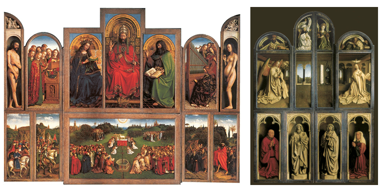 The-Ghent-Altarpiece-open-left-and-closed-right-Image-copyright-Ghent-Kathedrale